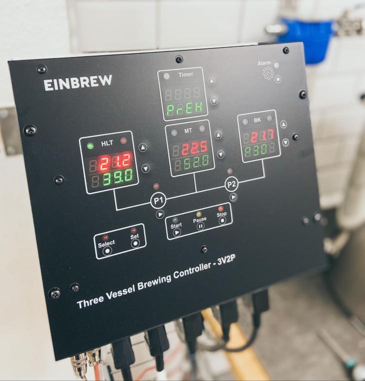 EINBREW Controller - alles verkabelt